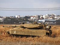 טנק מרכבה בעזה צהל / צלם: רויטרס